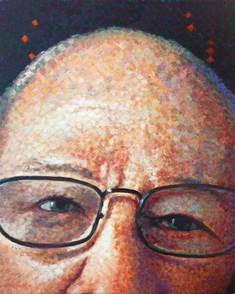 Close up impressionistic portrait