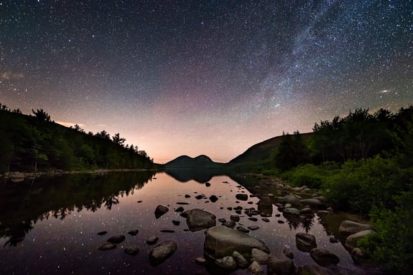 Night Sky at Jordan Pond