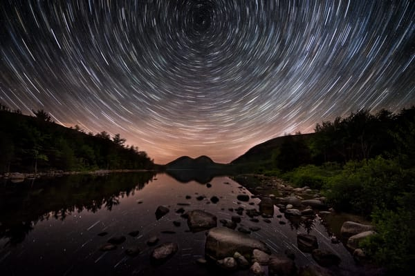Star Trails at Jordan Pond