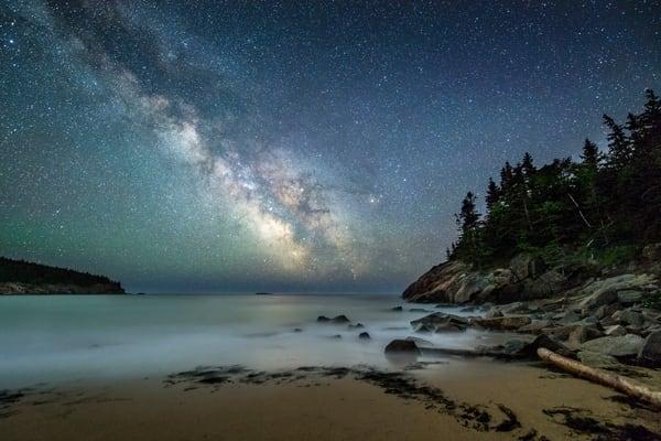 Milky Way Over Sand Beach #1 Photography Art | Carol Brooks Parker Fine Art Photography