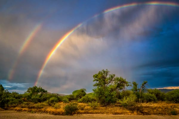 Double Rainbow After Monsoon Storm