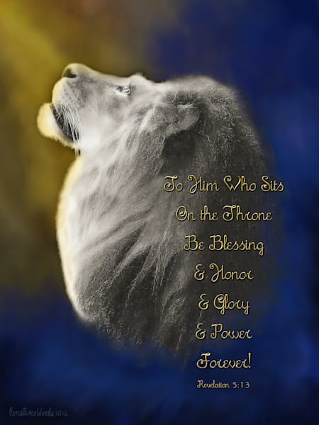 """""""Lion On The Throne"""" by Constance Woods 