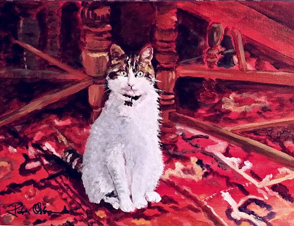 Charlie the Cat | Original Fine Art Print by Rick Osborn