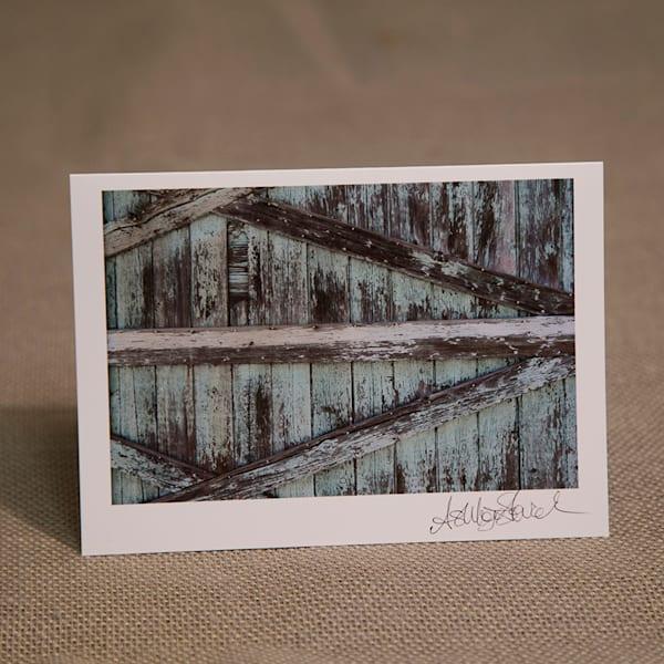 Turquoise Barnwood Notecard