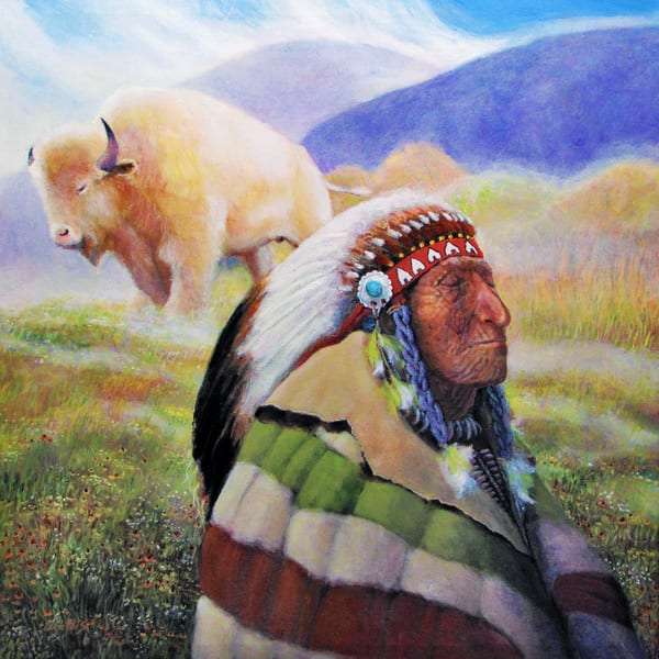 The Old Chief And Visions Of The White Buffalo Art | Charles Wallis
