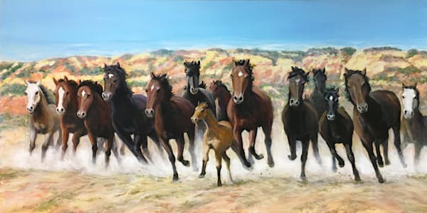 Running Horses  Art | Charles Wallis