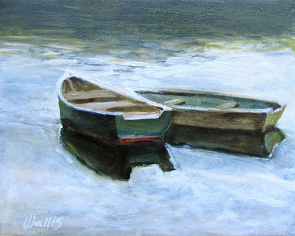 Pond Row Boats #1 Art | Charles Wallis