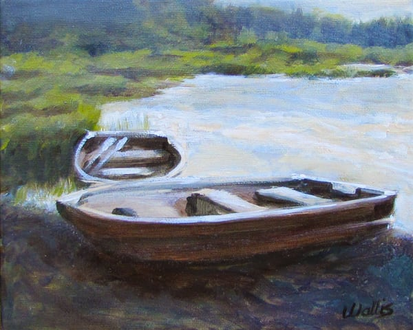 Pond Row Boats #2 Art | Charles Wallis