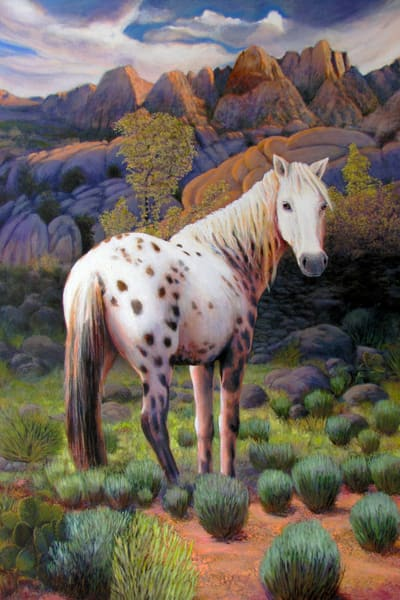 High Desert Mare Orig Art | Charles Wallis
