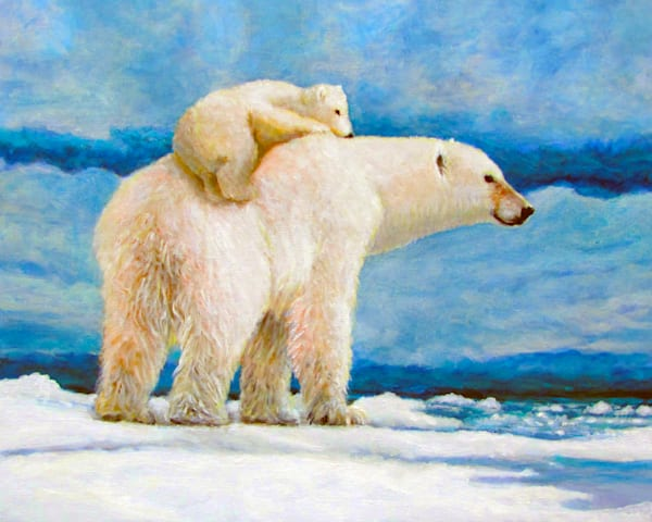 Polar Bear And Cub Art | Charles Wallis
