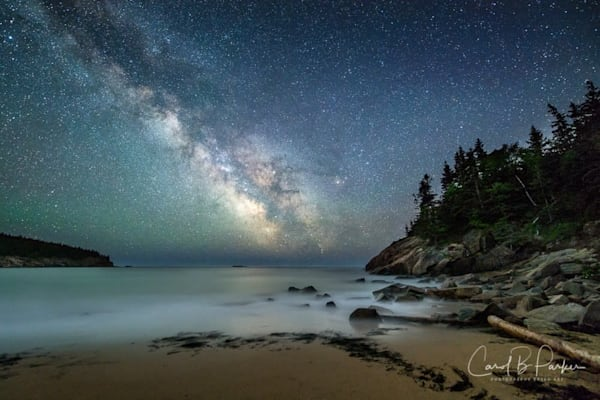 Milky Way Over Sand Beach in Acadia National Park