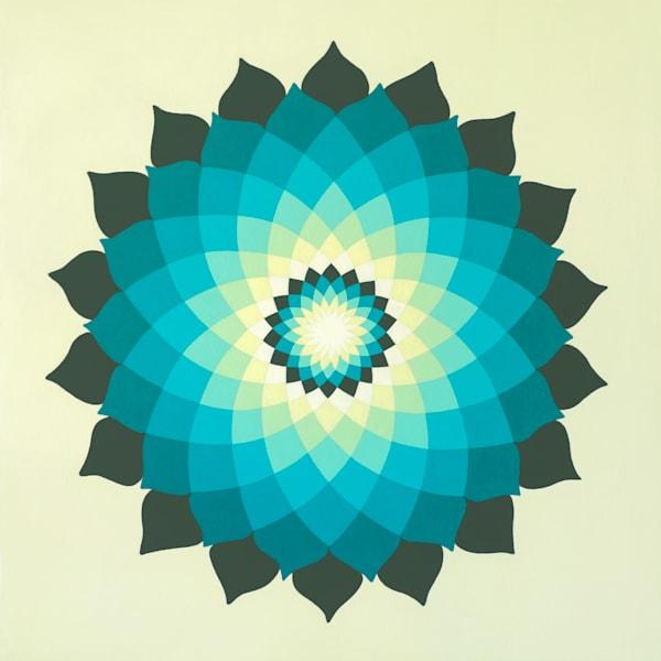 Vintage Turquoise Lotus Mandala
