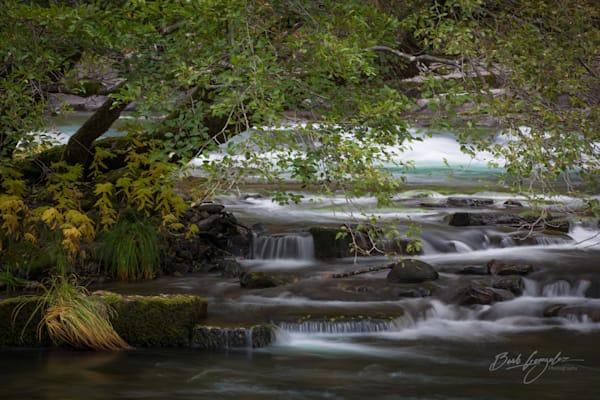 Cascading Autumn River Photo for sale by Barb Gonzalez Photography