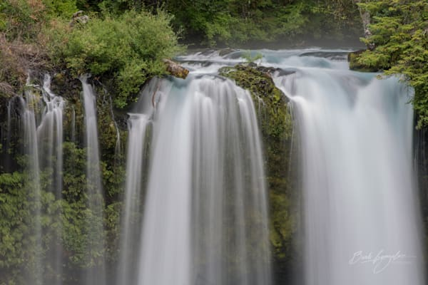 Aqua waters flow over Koosah Falls in this fine art photo by Barb Gonzalez Photography