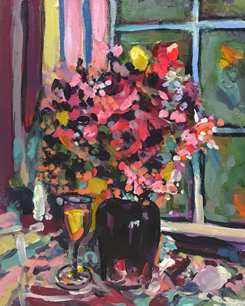 Still LIfe In Black Vase