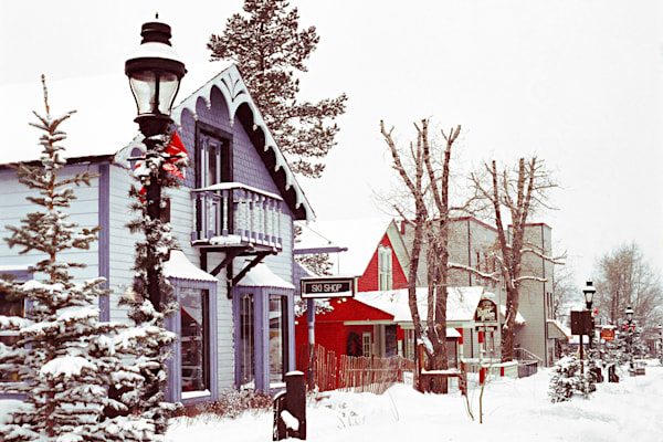 Fine Art photograph of the Knorr House Ski Shop in Breckenridge, Colorado around 1980
