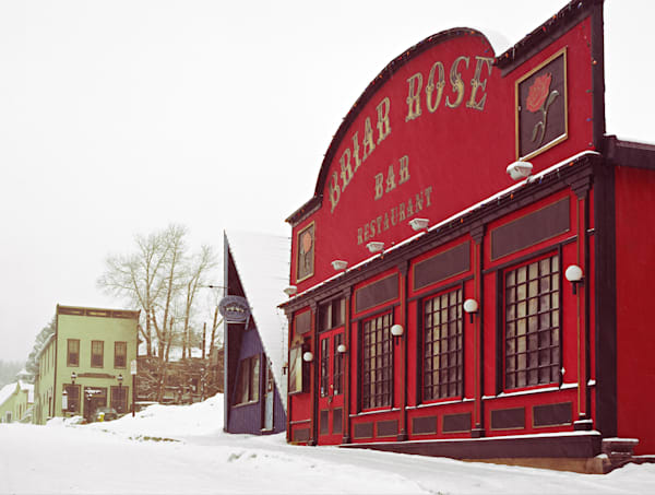 Fine Art photograph of the Briar Rose Rstaurant in Breckenridge, Colorado around 1980