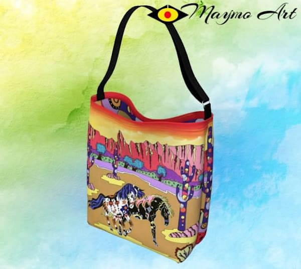 Playful Horses Day Tote | Maymo Art