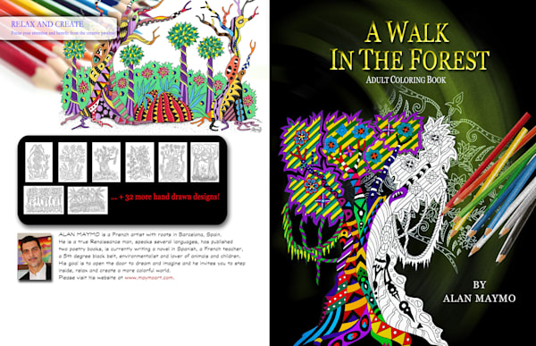 A Walk in the Forest Coloring Book