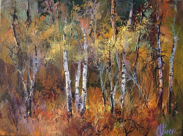 Deep Aspens by Doug Oliver   Southwest Art   Tucson Gallery