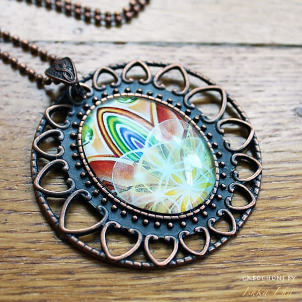 Rainbow Rising - Visionary Art Jewelry by Ishka Lha
