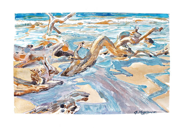 Water, Wood, Light, Shadow 1 | Contemporary Landscapes | Gordon Meggison IV