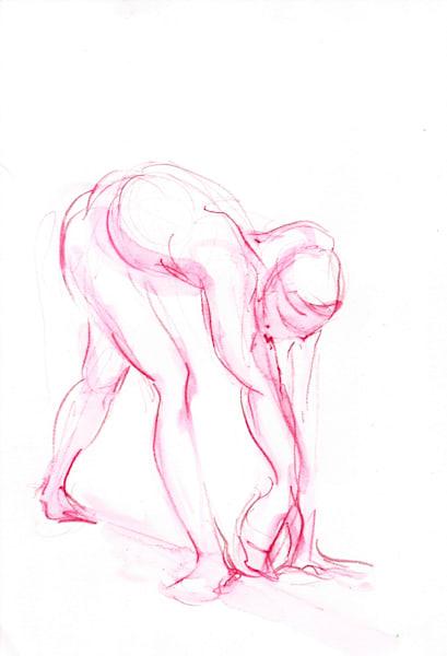 Watercolor Pencil Art Dance Painting
