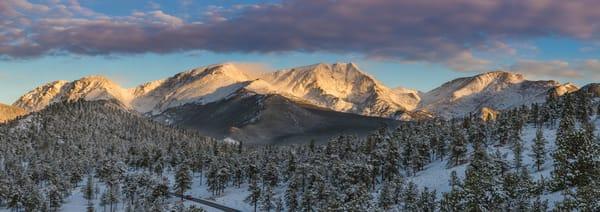 Photo of Sunrise over Ypsilon Mountain and The Mummy Range