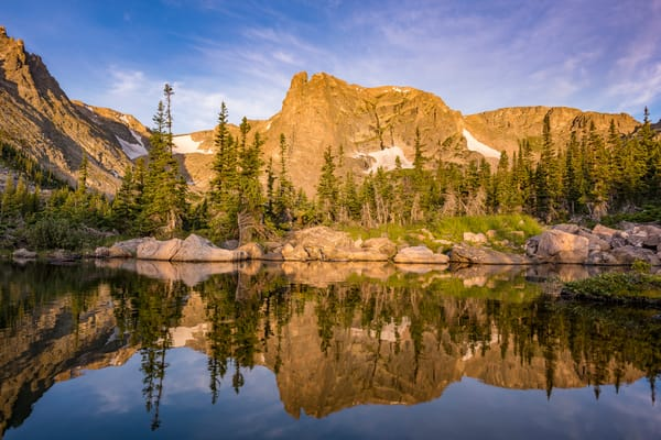 Photograph of Notchtop Mountain Reflecting in Marigold Ponds Rocky Mountain National Park