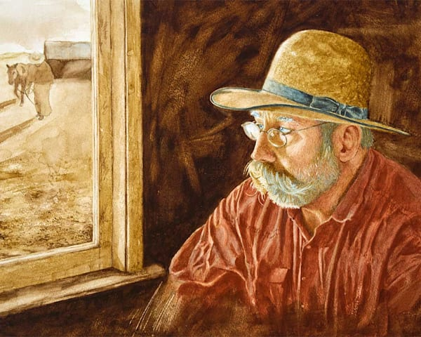 "Raymond Wattenhofer  Cowboy Art ""The Cowboy Poet"" Open Edition."