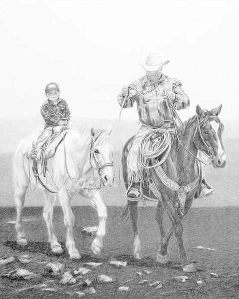 "Raymond Wattenhofer Open Edition Art Print ""Takin' The Lead""."