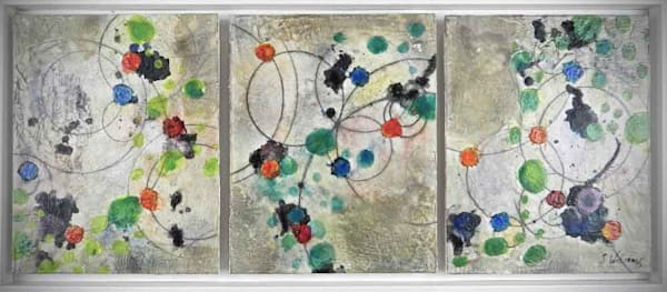 Original Encaustic Painting - Energy Field
