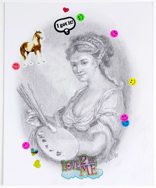 i got it (after Angelica Kauffman) - original drawing