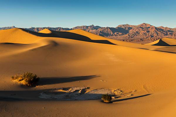 Shadows Over Mesquite Flat Sand Dunes Photograph For Sale As Fine Art