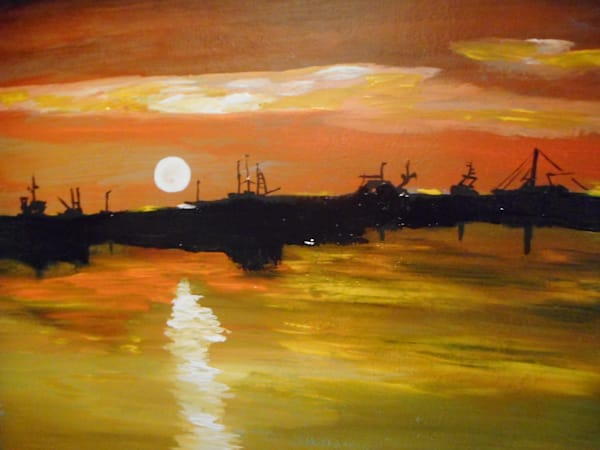 """Ocean Sunset"" by Donald Cooper 