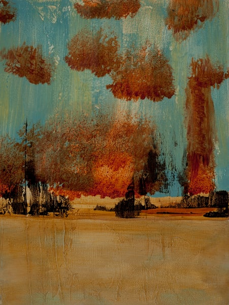 Cloud Nine contemporary abstract painting by Jana Kappeler.