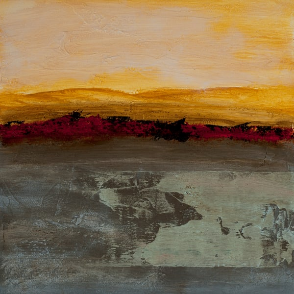 Sun Salutation contemporary abstract painting by Jana Kappeler, artist.