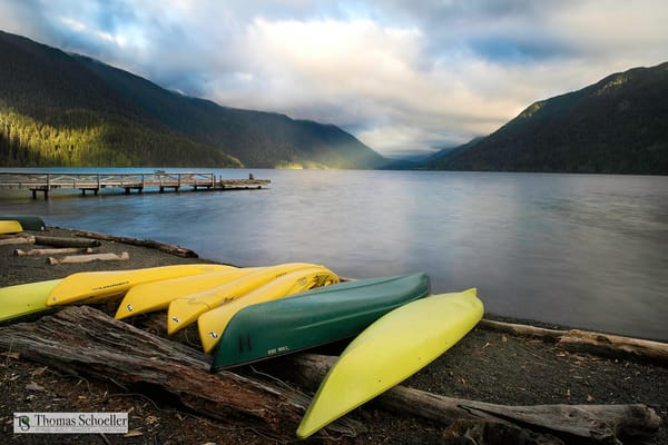 Gorgeous view from Lake Crescent Lodge at sunrise/Fine Art photography prints by Thomas Schoeller