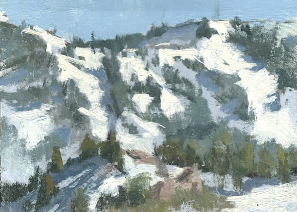 Closing Day, June Lakes Ski Resort | Original Oil Painting by Antrese Wood