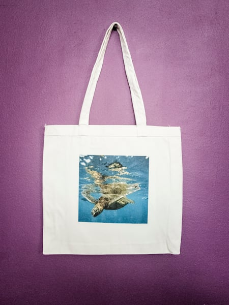 Sea Turtle Reusable Tote Bag for sale