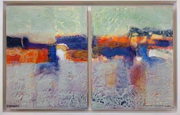 Original Encaustic Painting - Distant Horizon abstract horizon- originals, by Shirley Williams