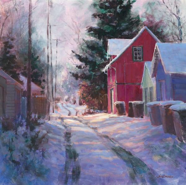 Snowy Walk Home by Jed Dorsey