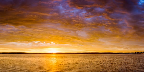 Skyfire Sunrise Over Platte Lake Photography Art | Drew Smith Photography, LLC