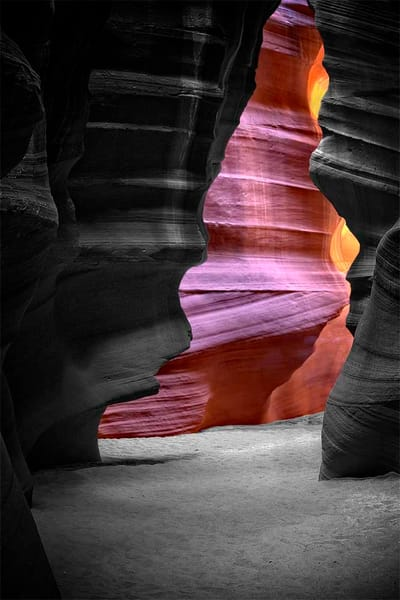 Antelope Canyon Dream in Black and White Series
