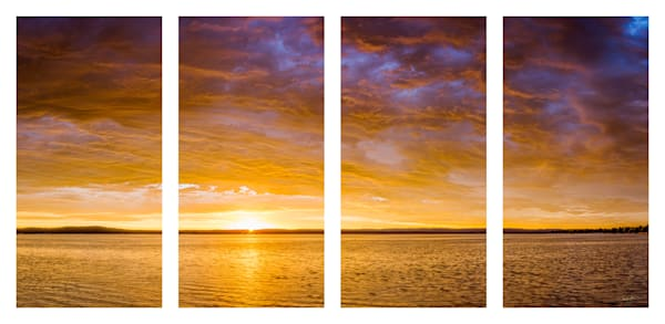 Sunrise over Platte Lake Quadtych