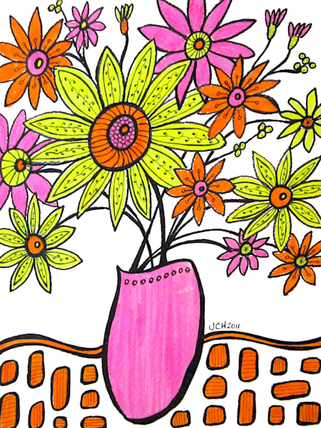 Flower Art and Flower Paintings For Sale by Groovy Gal Designs