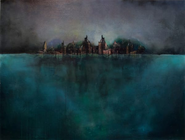 Castle And Water Sold Art | Haley Litzinger