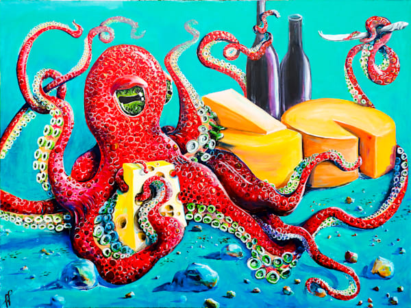 Cephalopod art | Still Life with Octopus | Art Prints and Paintings for sale by Tif Choate | Animal Art