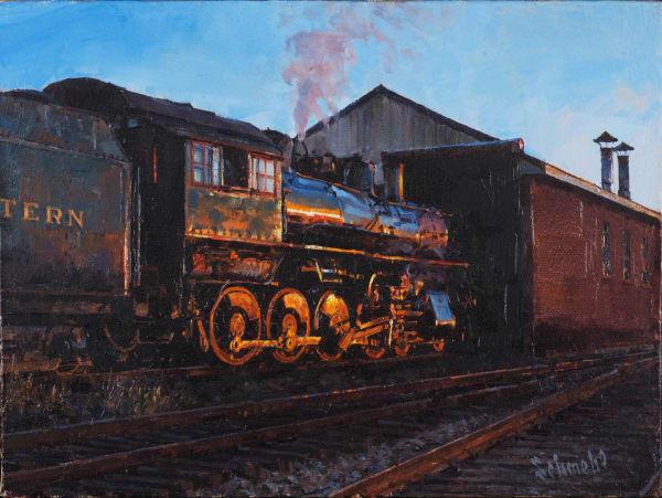 Locomotive Shed Art for Sale
