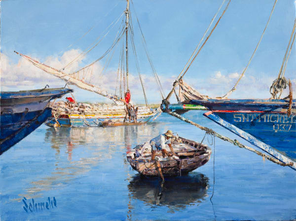 Boatmen In Paradise Art for Sale